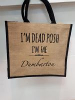 Dead Posh Large Jute Bag - Dumbarton